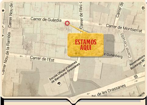 Mapa de La Concha del Raval. LA Concha del Raval map